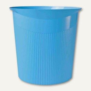 Papierkorb LOOP Trend Colour - 13 Liter, rund, Höhe: 287 mm, hellblau, 18140-54
