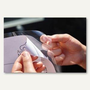 Infotaschen Glassichtfolie