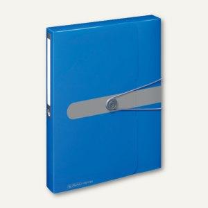 Sammelbox easy orga to go - DIN A4, 250x330 mm, PP, blau opak, 11206125