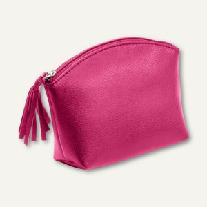 Alassio Handtaschen-Etui, Kosmetiktasche mit Reißverschluß, Leder, rosa, 2704
