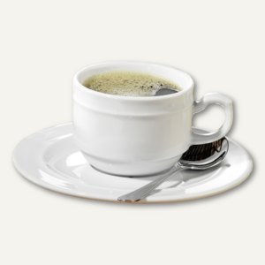 Kaffeetassenset ALICE - 6-teilig, Qualitäts-Porzellan, 0.18 l, weiß, 539-001