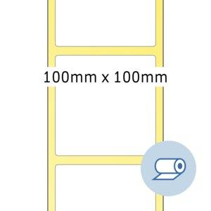 Rollenetiketten - 100 x 100 mm