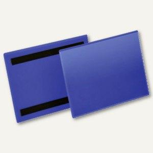 Magnetische Kennzeichnungstasche, A5 quer, blau/transparent, 50 St