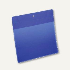 Neodym-Magnettasche, A5 quer, blau/transparent, 10 St