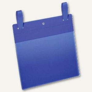 Gitterboxtasche mit Lasche, A5 quer, blau/transparent, 50 St