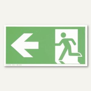 Hinweisetikettfolie - Rettungsweg links
