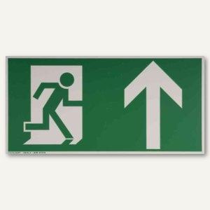 Hinweisetikettfolie - Rettungsweg nach oben