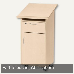 stehpult laudatus x 600 x 525 mm t r rollen holz dekor buche 269773 b robedarf. Black Bedroom Furniture Sets. Home Design Ideas