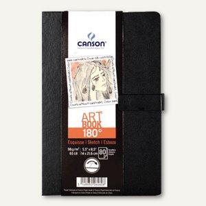 Skizzenbuch ARTBOOK 180°, 216 x 140 mm, 80 Blatt, 96g/qm, gute Planage, schwarz