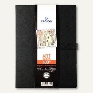 Skizzenbuch ARTBOOK 180°, DIN A4, 80 Blatt, 96g/qm, gute Planage, schwarz, 6461