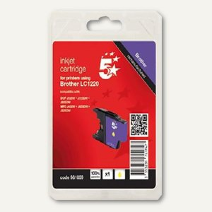 Tintenpatrone kompatibel zu Brother LC-1220Y