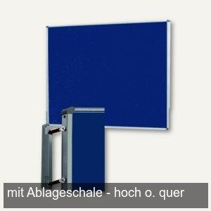 Pinwand, 118 x 149 cm, Filz, Wandaufhängung, Ablageschale, dunkelblau, M83488