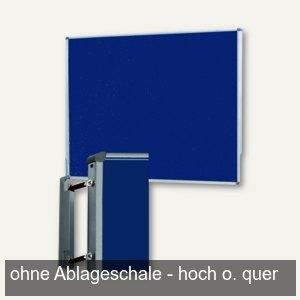 officio Pinwand, 118 x 149 cm, Filz, Wandaufhängung, dunkelblau, M83481