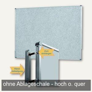 officio Pinwand, 118 x 149 cm, Filz, Wandaufhängung, grau, M83581