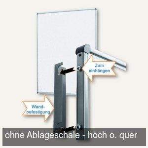 officio Pinwand, 118 x 149 cm, Karton, Wandaufhängung, weiß, M80781