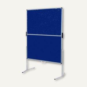 Pinwand mobile, Filz, Standbeine, klappbar&transportabel, 118x149 cm, dunkelblau