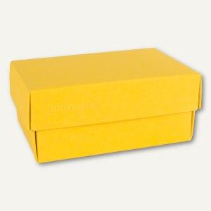 Geschenkschachteln A7, Karton, 10.2 x 6.5 x 4.6 cm, 350 g/m˛, gelb, 12er-Pack