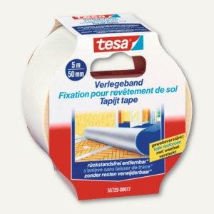 Tesa Verlegeband, rückstandsfrei entfernbar, 50 mm x 5 m, 55729-00017-00