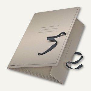 Esselte Zeichnungsmappe / Sammelmappe mit Bändern, DIN A3, grau, 6586