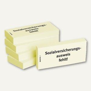 Haftnotizen bedruckt: Sozialversicherungsausweis fehlt!