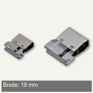 officio Papierklammer groß - (B)19 mm, Edelstahl, silber, 100er-Pack