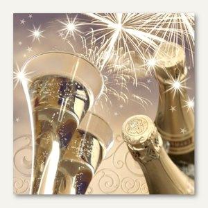 "Motivservietten ""New Year`s Eve"", 1/4-Falz, 3-lagig, 33 x 33 cm, 600 Stück"
