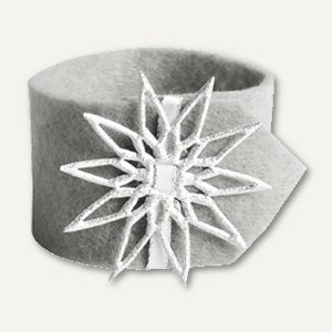 "Papstar Serviettenringe ""Crystal"", Ř 4 cm, grau, 24 Stück, 85107"