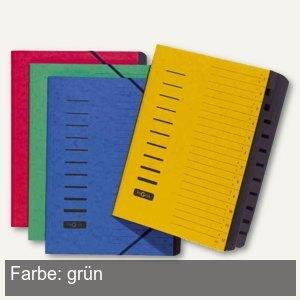 Ordnungsmappe, DIN A4, 12-teilig, 1-12 & A-Z, Karton, gr