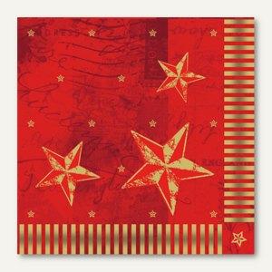 Servietten Star Shine rot