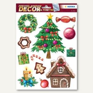 Herma Weihnachts-Fensterbild WEIHNACHTSZEIT, ablösbare Folie, 60 Sticker, 15114