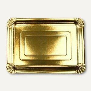 Papstar Teller, Pappe, eckig, 24 x 33 cm, gold, 120 Stück, 86317