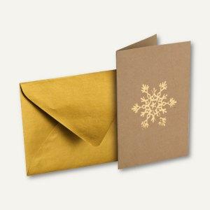 Rössler Weihnachtskarte Din A6 Umschlag Din C6 Eiskristall