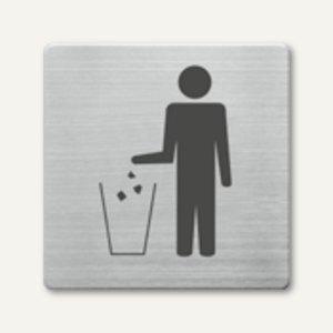 quadratische Piktogramme Mülleimer