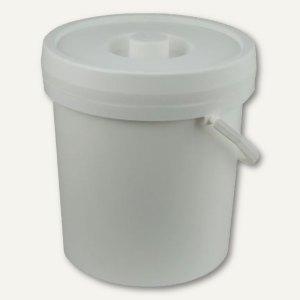 Eimer mit Deckel & Henkeln - 12 Liter
