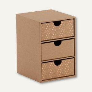 KRAFT AND POLKA 3er Schubladenbox