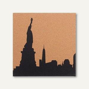 Korktafel bedruckt mit New York Skyline