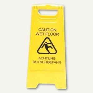Warnschild Achtung Rutschgefahr / Caution Wet Floor