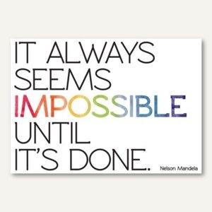 Deko Wandtattoo It always seems impossible…