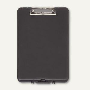 Schreibplatte m. Aufbewahrungsfach, DIN A4, 34 x 24 x 3 cm, ABS, schwarz