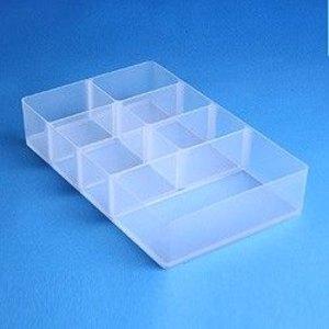 Kleinteilbox Einsatz mit 7 Fächern