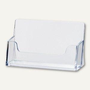 Tisch-Visitenkartenständer, 9.5 x 5.4 x 4 cm, bis 50 Karten, transparent