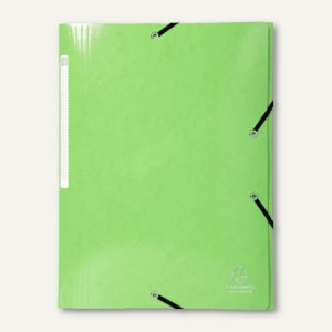Eckspannmappe A4, max. 300 Blatt, 3 Klappen, Karton, anisgr