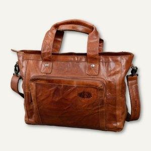 Tasche HEATHER HEARTBREAKER, 39 x 29 x 16 cm, Laptop-/ Tabletfach, Leder, cognac