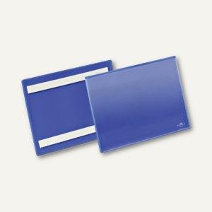 Selbstklebende Etikettentasche, DIN A5 quer, blau/transparent, 50 St