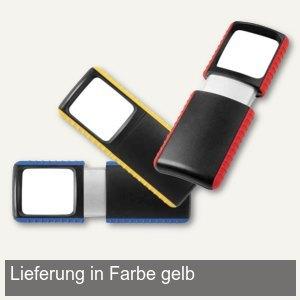 Outdoor-Rechtecklupe, 3-fach, LED-Beleuchtung, Linse 35 x 38 mm, gelb