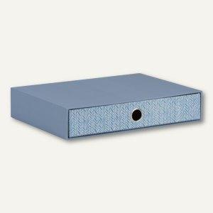 Schubladenbox für DIN A4 - BILBAO - BLUE