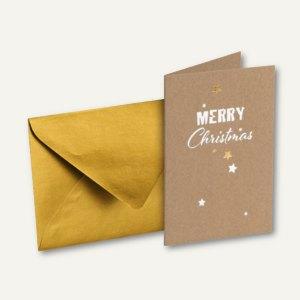 Weihnachtskarte DIN A6 + Umschlag DIN C6