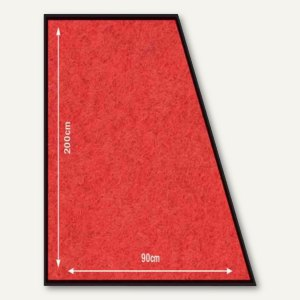 Teppich Läufer, rutsch-/wetterfest, 900 x 2.000 mm, Polyester/PVC, rot