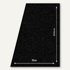 Teppich Läufer, rutsch-/wetterfest, 900 x 2.000 mm, Polyester/PVC, schwarz