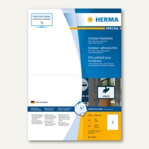 Herma Outdoor Klebefolie, wetterfest, 210 x 148 mm, matt weiß, 80 Stück, 9541